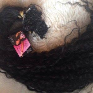 Hair permed in keratin - Lengthening